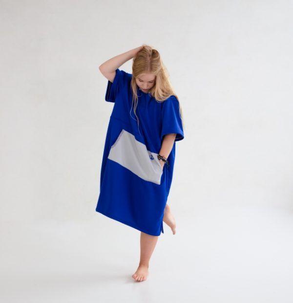 PONCHO BLUE
